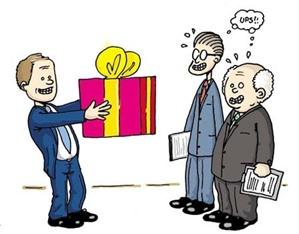 Phải làm thế nào khi được tặng, cho doanh nghiệp?